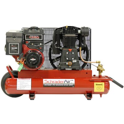 Schrader 8 Gallon Compressor For Contractors Gas Powered Air Compressor at Sears.com