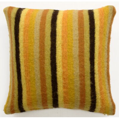Mohair Blend Striped Accent Pillow Color: Yellow/Orange