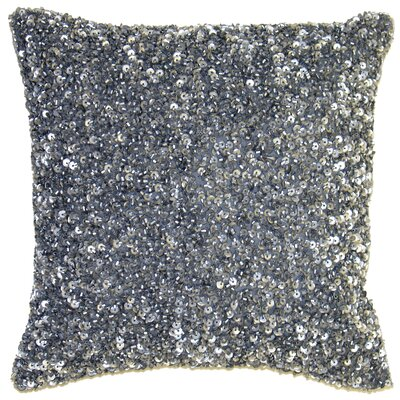 Ice Crush Throw Pillow Size: 16 H x 16 W x 4 D, Color: Silver