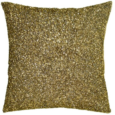 Ice Crush Throw Pillow Color: Gold, Size: 10 H x 10 W x 4 D