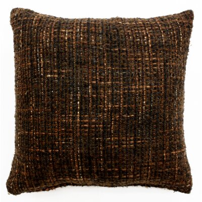 Bubble Weave Throw Pillow Color: Chocolate