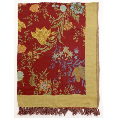 Classic Floral Cotton Throw