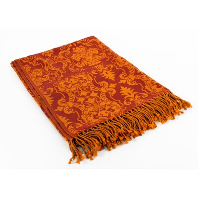 Damask Wool Throw Blanket