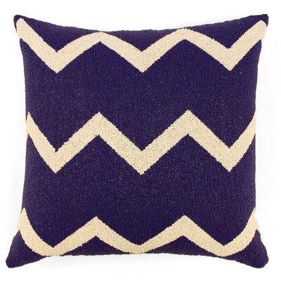 Harlequin Zig Zag Fully Beaded Silk Throw Pillow