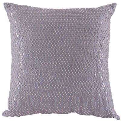 Quinn  Beaded Sequin Throw Pillow Color: Silver