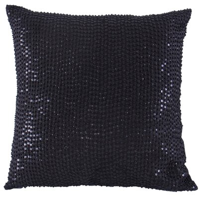 Quinn  Beaded Sequin Throw Pillow Color: Black