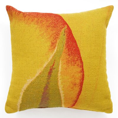 Graphic Leaf Wool Jacquard Throw Pillow