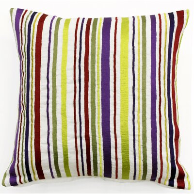 Whimsy Stripe Linen Throw Pillow