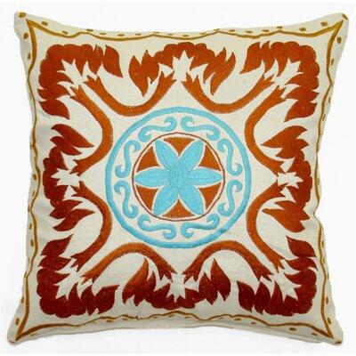 Morrocan Center Circle Cotton Throw Pillow
