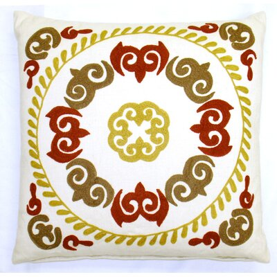 Suzani Oksana Medallion Cotton Throw Pillow