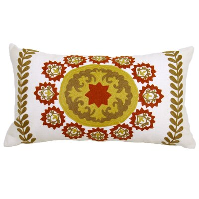 Suzani Oksana Medallion Cotton Lumbar Pillow