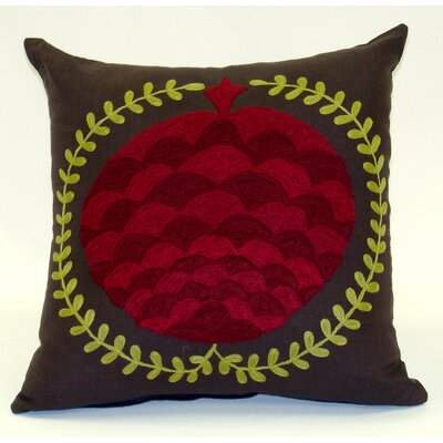 Pomegranate Linen Throw Pillow