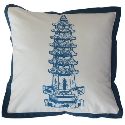 Pagoda Cotton Throw Pillow