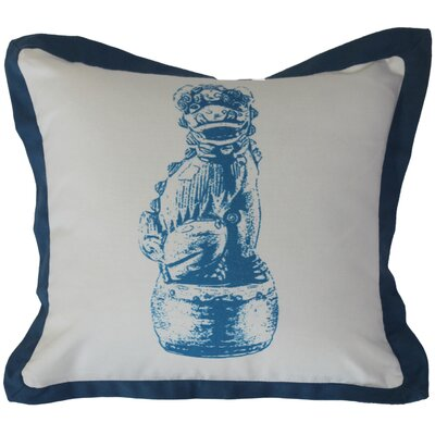 Foo Dog Cotton Throw Pillow