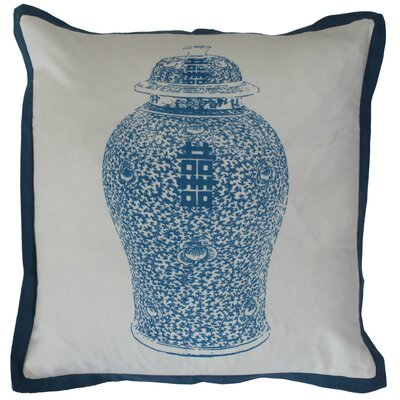Chinese Ginger Jar Cotton Throw Pillow