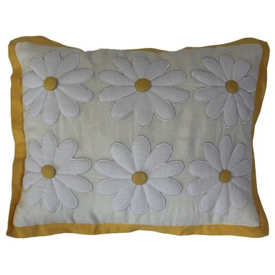 Daisy Linen Lumbar Pillow