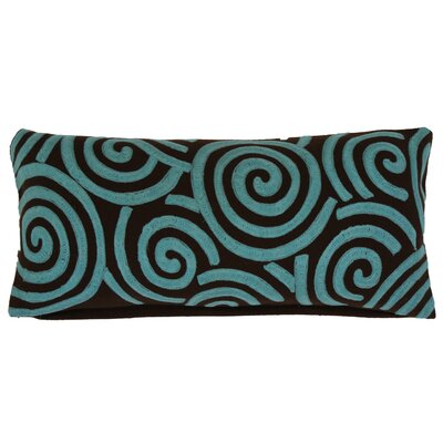 Graphic Key Swirl Wool Lumbar Pillow