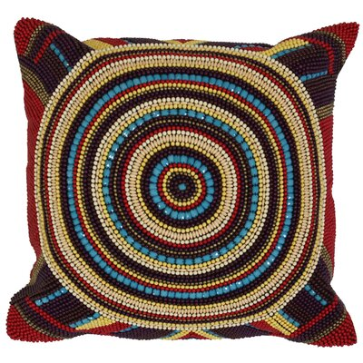 Tribal Beaded Throw Pillow