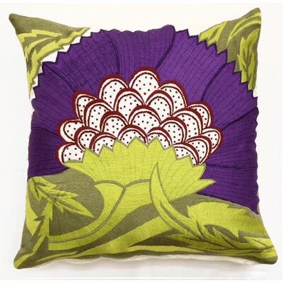Pollen Throw Pillow Color: Purple