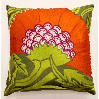 Pollen Throw Pillow Color: Orange