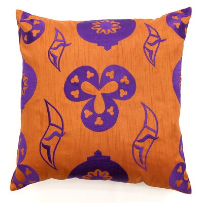 Shanghai Throw Pillow Color: Tan / Purple