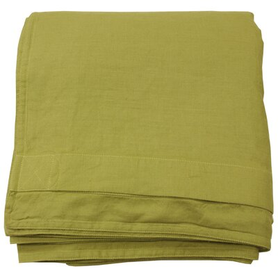 Linen Duvet Cover Size: King, Color: Golden Green
