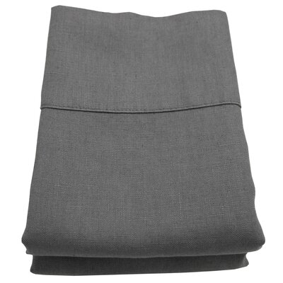 Linen Pillowcase Size: Standard/Queen, Color: Graphite Gray