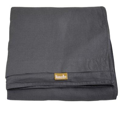 Linen Duvet Cover Size: King, Color: Graphite Gray