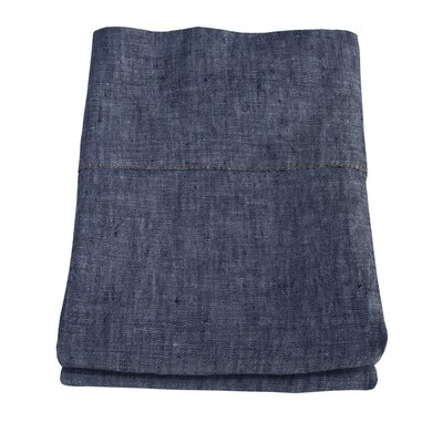 Linen Pillowcase Size: King, Color: Indigo