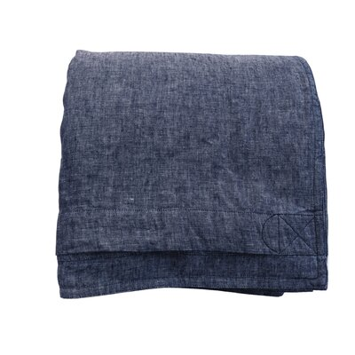 Linen Duvet Cover Size: King, Color: Indigo