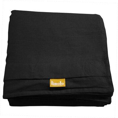Linen Duvet Cover Size: King, Color: Black