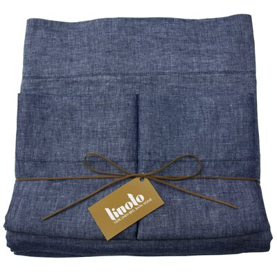 Linen Sheet Set Size: Full/Double, Color: Indigo
