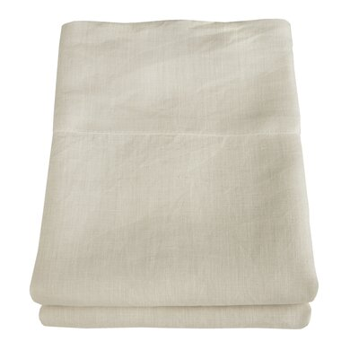Linen Pillowcase Size: King, Color: Ivory