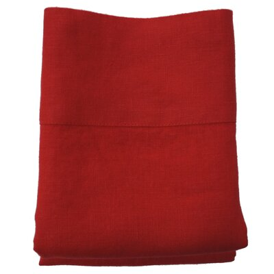 Linen Pillowcase Size: King, Color: Red