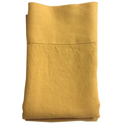 Linen Pillowcase Color: Black, Size: Standard/Queen