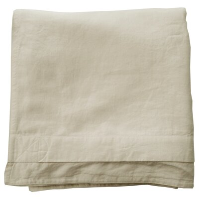 Linen Duvet Cover Size: Twin, Color: Ivory