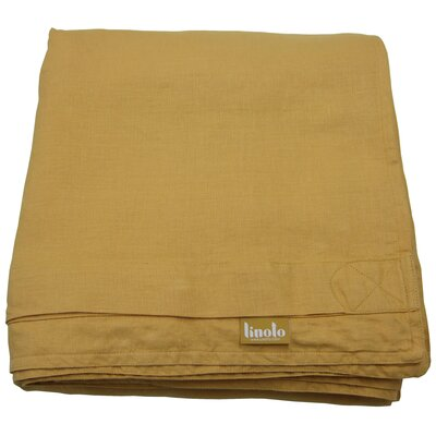 Linen Duvet Cover Size: Full/Queen, Color: Butternut