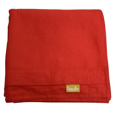 Linen Duvet Cover Size: King, Color: Red