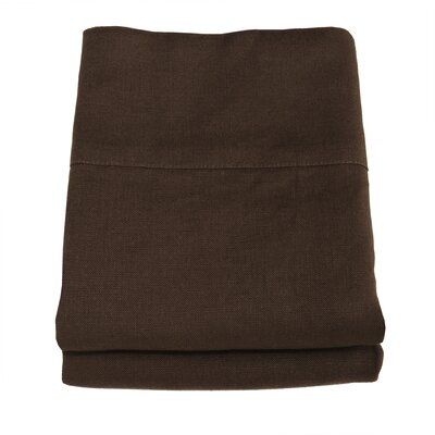 Linen Pillowcase Size: King, Color: Cocoa