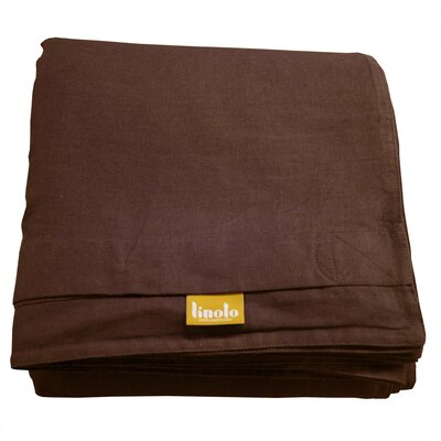 Linen Duvet Cover Size: Full/Queen, Color: Cocoa