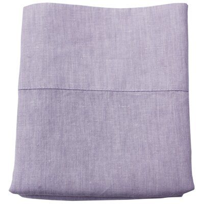 Linen Pillowcase Size: King, Color: Lavender