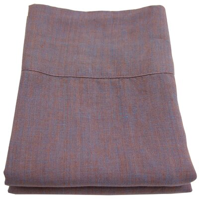 Linen Pillowcase Size: King, Color: Copper Plum