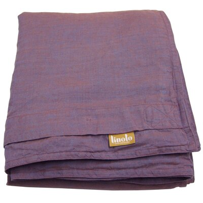 Linen Duvet Cover Size: Full/Queen, Color: Copper Plum