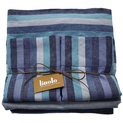 Linen Sheet Set Size: King, Color: Santorini
