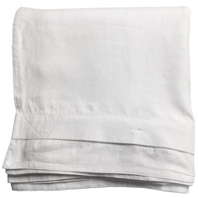 Belgian Eco-Linen Duvet Cover Color: Optic White, Size: King