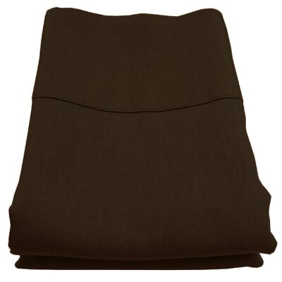 Linen Pillowcase Size: King, Color: Espresso