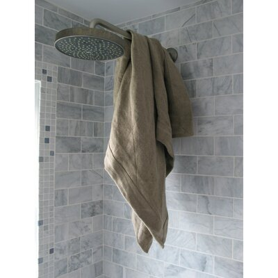 Linen Spa Bath Towel Color: Oyster