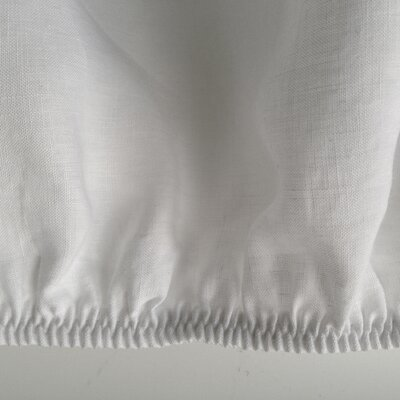 Belgian Eco-Linen Fitted Sheet Color: Optic White, Size: Full/Double