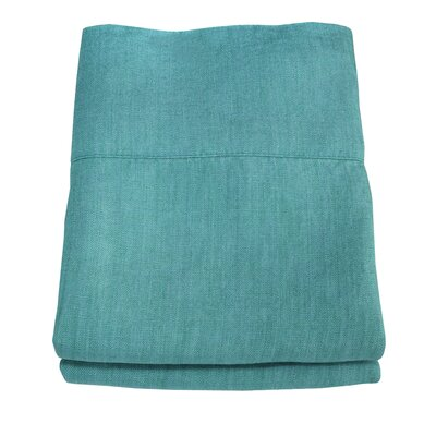 Linen Pillowcase Size: Standard/Queen, Color: Teal