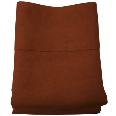 Linen Pillowcase Size: King, Color: Terra Cotta